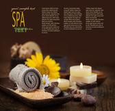 Spa thema mit sonnenblume — Stockfoto