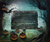 хэллоуин дизайн - лес тыквы — Стоковое фото