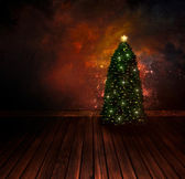 Chritmas design - Night Christmas tree — Zdjęcie stockowe