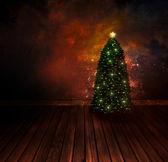 Chritmas design - Night Christmas tree — Stock Photo