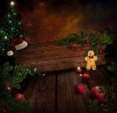 圣诞设计-夜圣诞树 — 图库照片