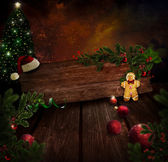 Chritmas design - Night Xmas tree — Foto de Stock
