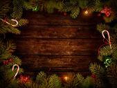 Projekt świąteczne - boże narodzenie wieniec — Zdjęcie stockowe