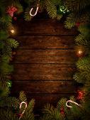 クリスマス デザイン クリスマスの花輪 — ストック写真