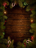 Noel tasarım - noel çelenk — Stok fotoğraf