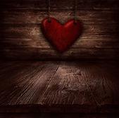 Conception de saint-valentin - coeur dans les chaînes — Photo