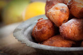 Deep fried fritters donuts — Stock Photo