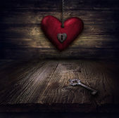 Valentines design - Heart in chains — Stock Photo