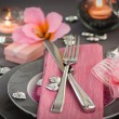 Valentines day dinner — Stockfoto