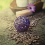 Violet dayspa nature set — Stock Photo #20180807