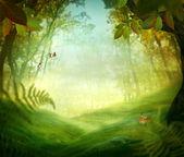 Conception du ressort - prés de la forêt — Photo