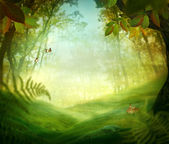 Spring design - Forest meadow — Stock Photo