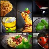 Colagem de macarrão — Foto Stock