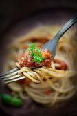 Pâtes à la sauce tomate — Photo