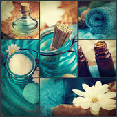 Spa-collage — Stockfoto