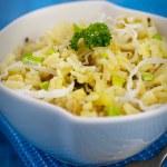 Vegetarian Leek risotto — Stock Photo
