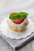 Aardbei cupcake — Stockfoto