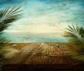 Summer design - Sea view — Stock Photo