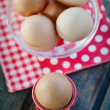 Stock Photo: Bolied eggs