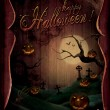 Halloween design - Pumpkins Theatre — Stock Photo
