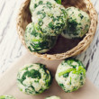 Stock Photo: Spinach dumplings