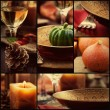 Autumn dinner collage — Stock Photo