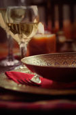 Restaurant autumn place setting — Stock Photo