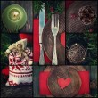 Christmas dinner collage — Stock Photo #33823265