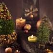 Christmas rustic decoration — Stock Photo