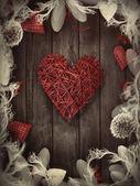 валентина дизайн - любви венок — Стоковое фото