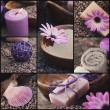 Purple spa collage — Stockfoto
