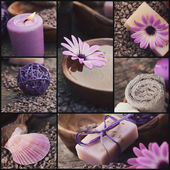Purple spa collage — Stock Photo