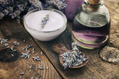 Lavender spa setting — Stockfoto