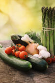 Fresh garden produce — Stock Photo