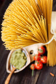 Pasta ingredients — Stock Photo