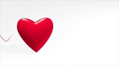 Heart and symbolic cardiogram — Stock Video