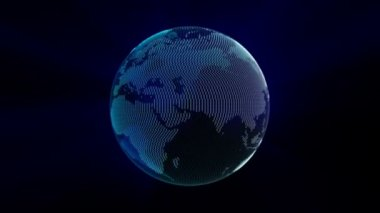 Spinning Earth (Loopable) — Stok video