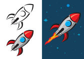 Rocket Vector Illustration — Stock Vector