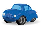 Blue Sports Utility Vehicle Car Cartoon - Vector Illustration — Stock Vector