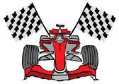 Formule 1 závodní auto vektorové ilustrace — Stock vektor