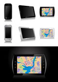 GPS device - global positioning system vector illustration — Stok Vektör