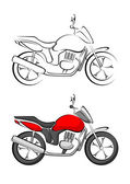 Stylised Motorcycle Vector illustration — Stock Vector
