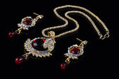 Indian Style Jewellery Set - Necklace and Earrings — Stock Photo