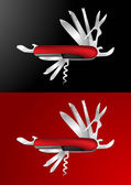 Swiss Army Knife Vector Illustration — Stock Vector