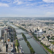 Paris from Eiffel Tower — Stock Photo