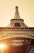 Vintage View of Eiffel Tower — Stock Photo