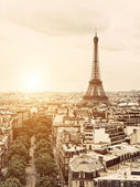 Eiffel from the Arch of Triumph — Stock Photo