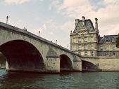 Pont Royal and Louvre Museum in Paris — Stock Photo