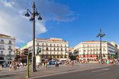Puerta del sol, madrid, eines der berühmten wahrzeichen von der spani — Stockfoto