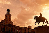 Sunset in Puerta del Sol, Madrid — Foto de Stock
